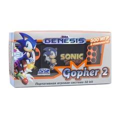 Игровая консоль RETRO GENESIS Gopher 2 500 игр, черный/оранжевый