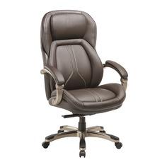Кресло руководителя БЮРОКРАТ T-9919, на колесиках, рециклированная кожа/кожзам, коричневый [t-9919/brown]