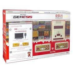 Игровая консоль RETRO GENESIS HD Wireless 300 игр, два беспроводных джойстика, белый/красный