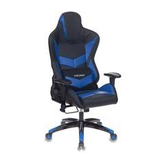 Кресло игровое БЮРОКРАТ CH-773N, на колесиках, искусственная кожа, черный/синий [ch-773n/bl+blue]