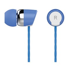 Наушники с микрофоном OKLICK HS-S-230, 3.5 мм, вкладыши, синий [s20]