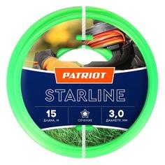 Леска для садовых триммеров PATRIOT Starline, 3.0мм, 15м [805201066] Патриот