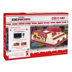 Игровая консоль RETRO GENESIS HD Ultra 300 игр, два проводных джойстика, белый/красный