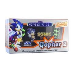 Игровая консоль RETRO GENESIS Gopher 2 700 игр, черный/зеленый