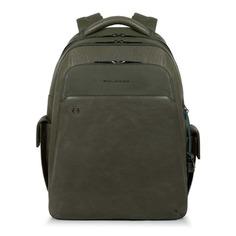 Рюкзак мужской Piquadro Black Square CA3444B3BM/VE зеленый натур.кожа