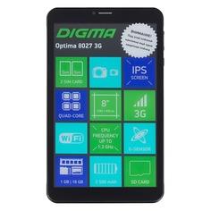Планшет DIGMA Optima 8027 3G, 1GB, 16GB, 3G, Android 8.1 черный [ts8211pg]