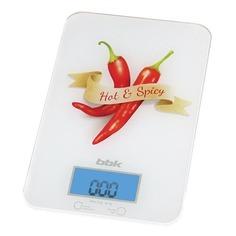Весы кухонные BBK KS106G, белый/специи
