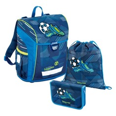 Школьные ранцы, рюкзаки, сумки Ранец Step By Step BaggyMax NIFFTY синий Soccer 3 предмета