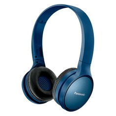 Наушники с микрофоном PANASONIC RP-HF410BG, Bluetooth, накладные, синий [rp-hf410bgca]