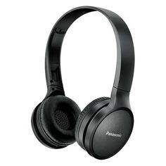 Наушники с микрофоном PANASONIC RP-HF410BG, Bluetooth, накладные, черный [rp-hf410bgcк]