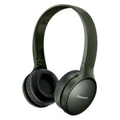 Наушники с микрофоном PANASONIC RP-HF410BG, Bluetooth, накладные, зеленый [rp-hf410bgcg]