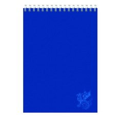 Блокнот Silwerhof 731187-15 A5 мелов.картон 60л клетка гребень синий 6 шт./кор.