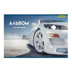 Альбом для рисования Silwerhof 911110-54 20л. A4 Машины 2диз. картон скрепка 10 шт./кор.