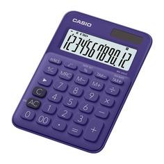 Калькулятор CASIO MS-20UC-PL-S-EC, 12-разрядный, фиолетовый