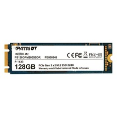 SSD накопитель PATRIOT Scorch PS128GPM280SSDR 128Гб, M.2 2280, PCI-E x2, NVMe Патриот