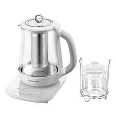 Чайник электрический REDMOND RK-G1304D, 1000Вт, белый