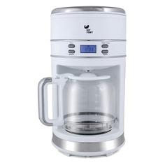 Кофеварка KITFORT КТ-704-1, капельная, белый