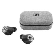 Наушники с микрофоном SENNHEISER Momentum True Wireless M3IETW, Bluetooth, вкладыши, черный/серебристый [508524]