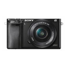 Фотоаппарат SONY Alpha A6000YB kit ( E PZ 16-50мм f/3.5-5.6 OSS и E 55-210мм f/4.5-6.3 OSS), черный [ilce6000yb.cec]