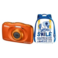 Цифровой фотоаппарат NIKON CoolPix W150, оранжевый, рюкзак