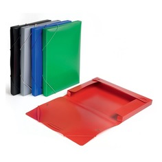 Папка-короб на резинке Бюрократ -BA25/05GRN пластик 0.5мм корешок 25мм A4 зеленый 30 шт./кор.