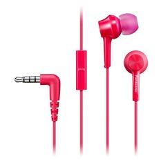 Наушники с микрофоном PANASONIC RP-TCM115GC, 3.5 мм, вкладыши, розовый [rp-tcm115gcp]
