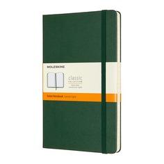 Блокнот Moleskine CLASSIC Large 130х210мм 240стр. линейка твердая обложка зеленый