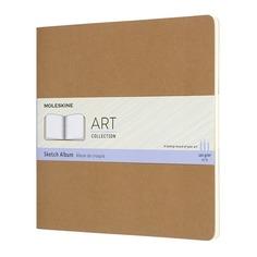 Блокнот для рисования Moleskine ART CAHIER SKETCH ALBUM 190x190мм обложка картон 88стр. бежевый 6 шт./кор.