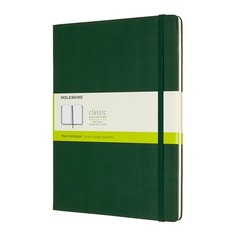 Блокнот Moleskine CLASSIC XLarge 190х250мм 192стр. нелинованный твердая обложка зеленый 6 шт./кор.