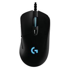 Мышь LOGITECH G403 HERO, игровая, оптическая, проводная, USB, черный [910-005632]