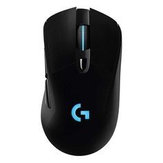 Мышь LOGITECH G703 LightSpeed (Hero), игровая, оптическая, беспроводная, USB, черный [910-005640]