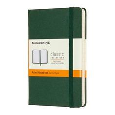 Блокнот Moleskine CLASSIC Pocket 90x140мм 192стр. линейка твердая обложка зеленый 9 шт./кор.