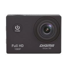 Экшн-камера DIGMA DiCam 160 1080p, черный [dc160]
