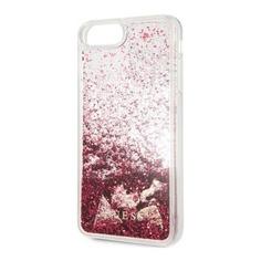 Чехол (клип-кейс) Guess Glitter Raspberry, для Apple iPhone 7 Plus/8 Plus, малиновый [guhci8lglhflra] Noname