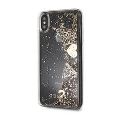Чехол (клип-кейс) Guess Glitter Gold, для Apple iPhone X/XS, золотистый [guhcpxglhflgo] Noname