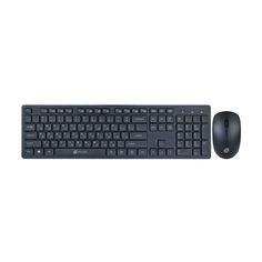 Комплекты (Клавиатура+Мышь) Комплект (клавиатура+мышь) OKLICK 240M, USB, беспроводной, черный [240mblack]