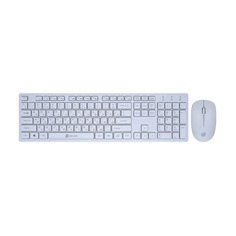 Комплект (клавиатура+мышь) OKLICK 240M, USB, беспроводной, белый