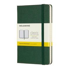 Блокнот Moleskine CLASSIC Pocket 90x140мм 192стр. клетка твердая обложка зеленый 9 шт./кор.