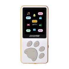 MP3 плеер DIGMA S4 flash 8Гб белый/оранжевый [s4wo]