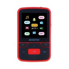 MP3 плеер DIGMA T4 flash 8Гб черный/красный [t4br]
