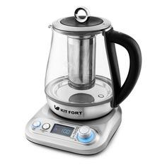 Чайник электрический KITFORT КТ-646, 1300Вт, серебристый