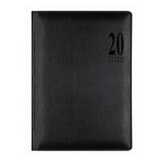 Ежедневник LETTS MILANO, A5, белые страницы, кожа искусственная, черный