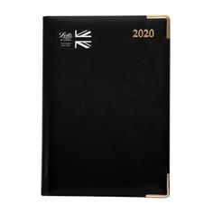 Ежедневник LETTS LEXICON, недатированный, A5, белые страницы, кожа искусственная, черный