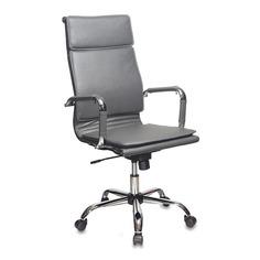 Кресло руководителя БЮРОКРАТ CH-993, на колесиках, искусственная кожа, серый [ch-993/grey]