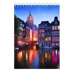 Блокнот Silwerhof 731190-15 A5 мелов.картон 60л клетка гребень Амстердам 6 шт./кор.