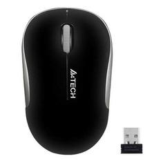 Мышь A4 V-Track G3-300N, оптическая, беспроводная, USB, черный и серебристый