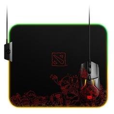 Коврик для мыши STEELSERIES QcK Prism Cloth Dota 2 Editiion, рисунок/черный [63832]