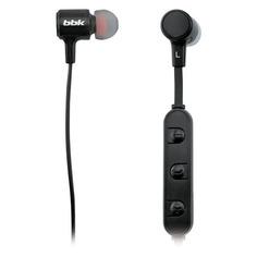 Наушники с микрофоном BBK BT03, Bluetooth, вкладыши, черный [bt03 (b)]