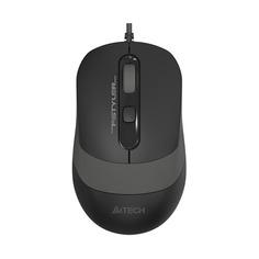 Мышь A4 Fstyler FM10, оптическая, проводная, USB, черный и серый [fm10 grey]
