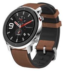 """Смарт-часы XIAOMI Amazfit GTR, 47мм, 1.39"""", серебристый / коричневый"""